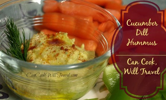 Homemade Cucumber Dill Hummus Makes Healthy Snacking Look Good