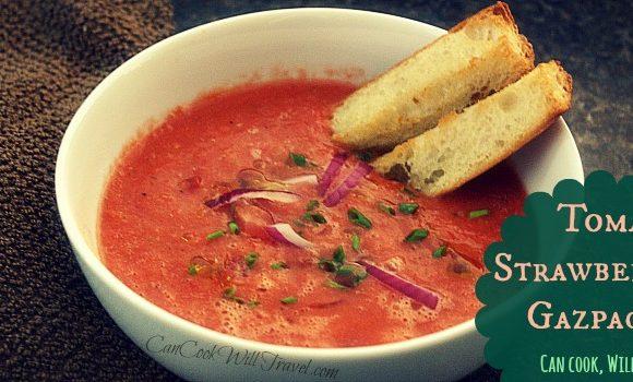 Tomato Strawberry Gazpacho…Take That, Summer!