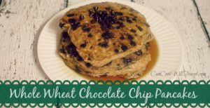 Whole Wheat Chocolate Chip Pancakes