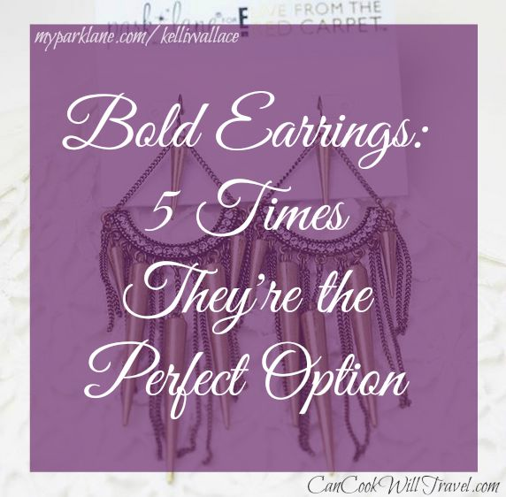 Bold Earrings Are the Perfect Option