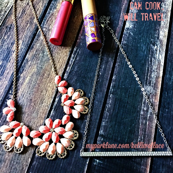 Kick those maxi dresses and skirts up a notch with the Kristen necklace fora pop of color or Raise the Bar if you're already rocking bright colors or patterns. These are 2 of my favorite statement style necklaces.