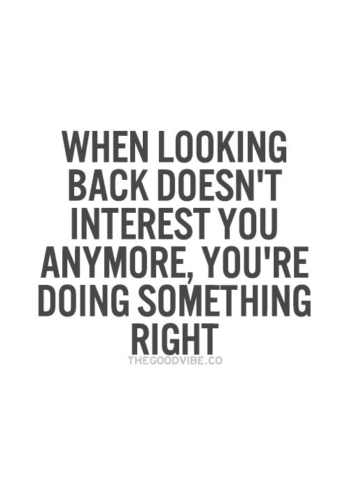 Looking Back doesn't interest you