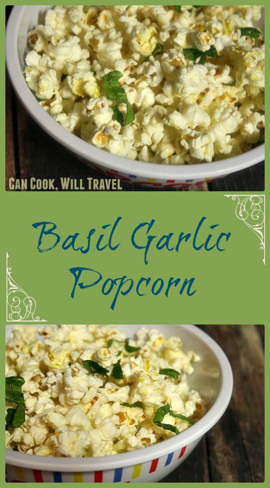 Basil Garlic Popcorn