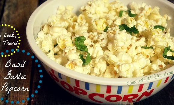 Bring on the Basil Garlic Popcorn!