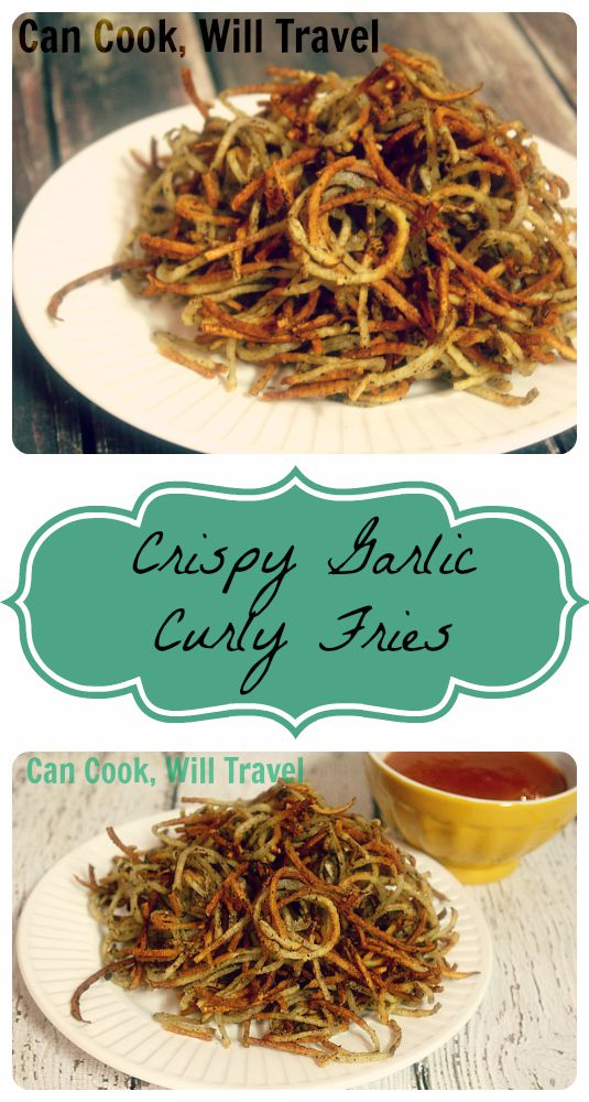 Crispy Garlic Curly Fries