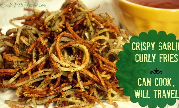 Crispy Garlic Curly Fries = A Perfect, Healthy Snack