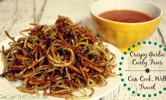 Crispy Garlic Curly Fries