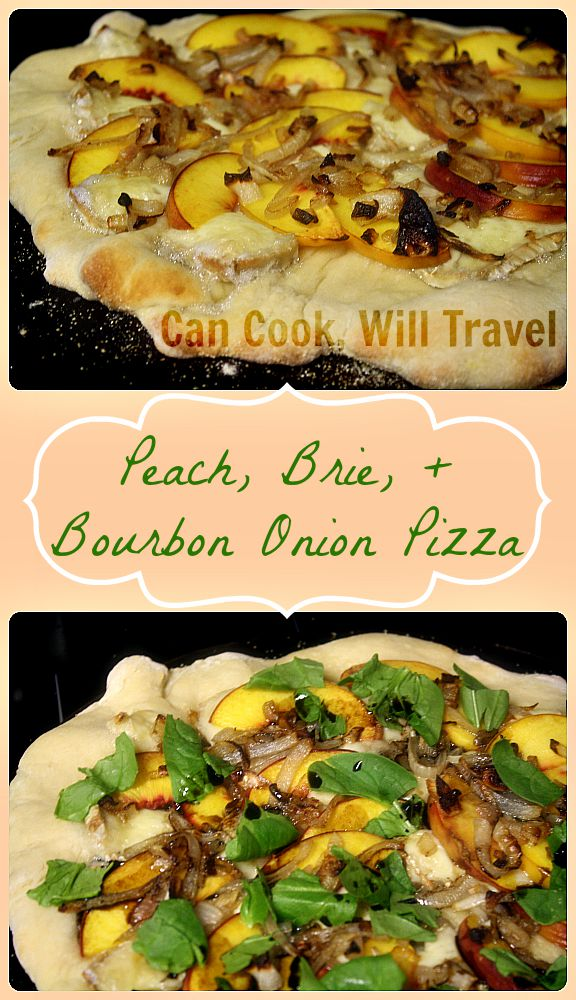 Peach & Bourbon Onion Pizza