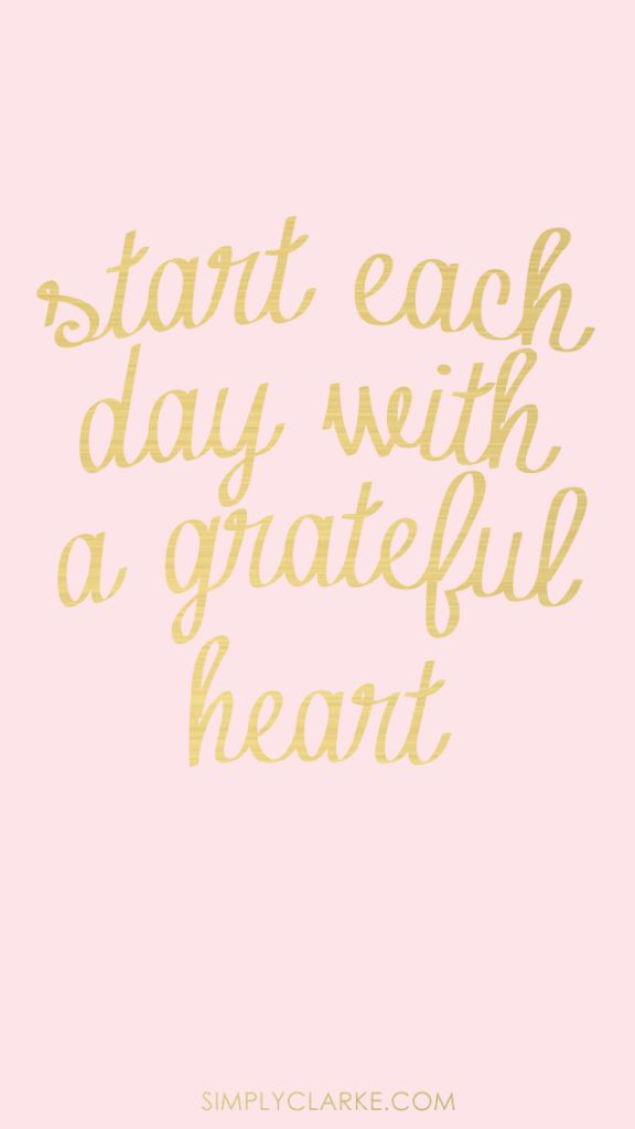 Start with a Grateful Heart