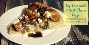 Fig, Prosciutto and Goat Cheese Pizza