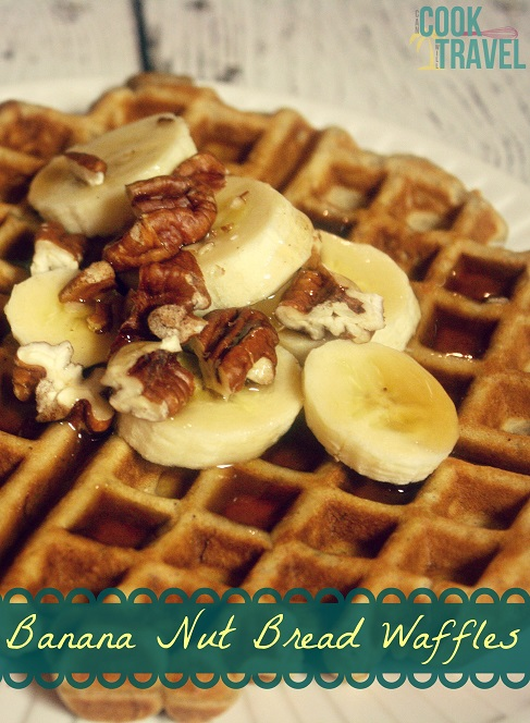 Banana Nut Bread Waffles