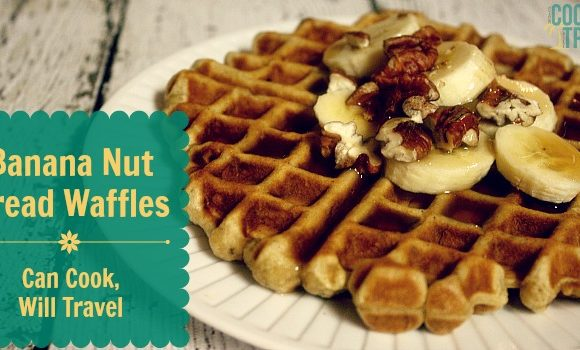 Banana Nut Bread Waffles Means I Heart Breakfast Even More!