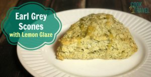 Earl Grey Scones with Lemon Glaze