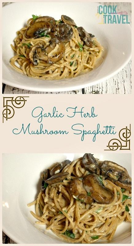 Garlic Herb Mushroom Spaghetti