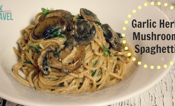 Elevating Pasta with Creamy Garlic Herb Mushroom Spaghetti