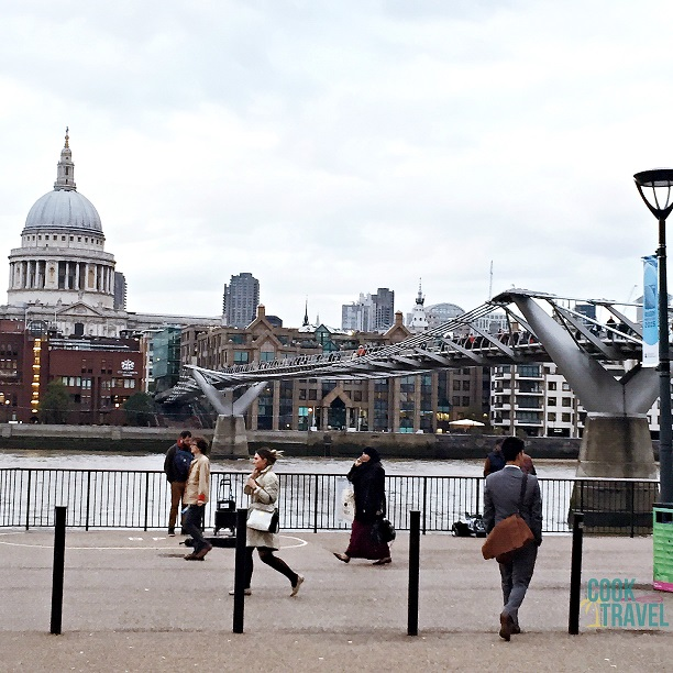 I just love people watching in London. Everyone is very go, go, go. And a walk along the Thames is a perfect place to people watch and see some amazing sites.