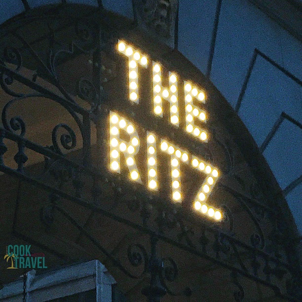 Oh how I've remembered walking by this sign many times wondering if I'll get to go to The Ritz ... well this year the answer was: Absolutely!