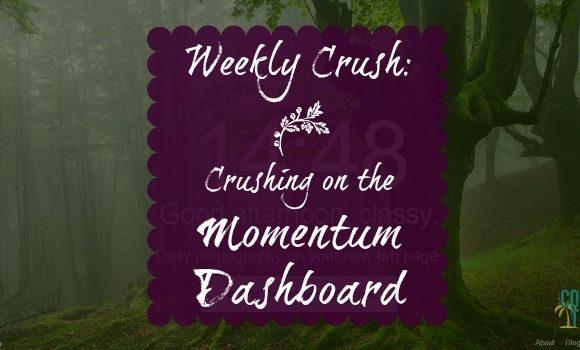 Weekly Crush: Momentum Dashboard Inspires