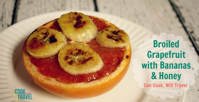 Broiled Grapefruit with Bananas and Honey