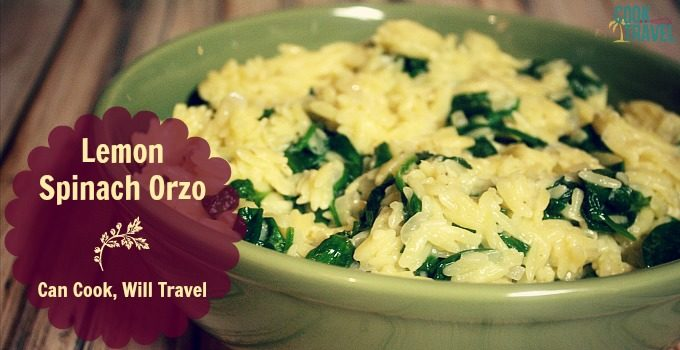 Lemon Spinach Orzo