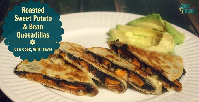 Roasted Sweet Potato and Bean Quesadillas