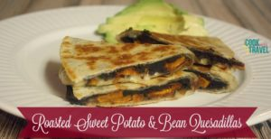 Sweet Potato and Bean Quesadillas