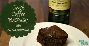 Irish Whiskey Coffee Brownies = A Very Happy St. Patrick's Day!