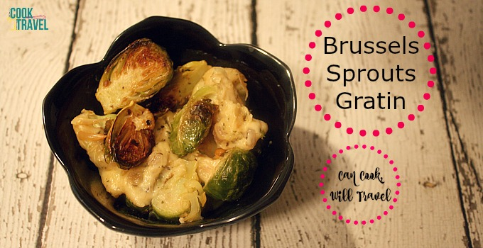 Skinny Brussels Sprouts Gratin