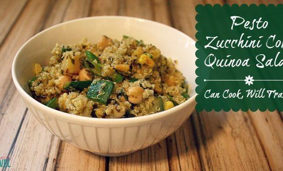Zucchini Corn Pesto Quinoa Salad