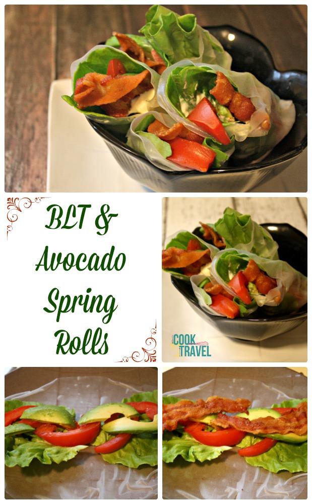 BLT Avocado Spring Rolls