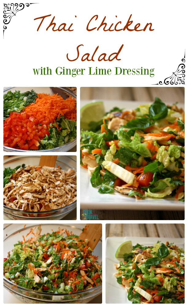 Thai Chicken Salad with Ginger Lime Dressing