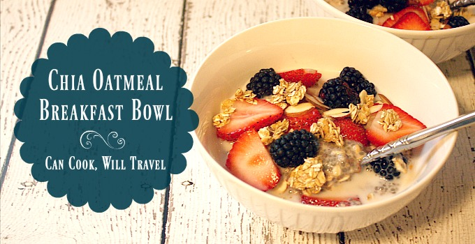 Chia Seed Oatmeal Breakfast Bowl