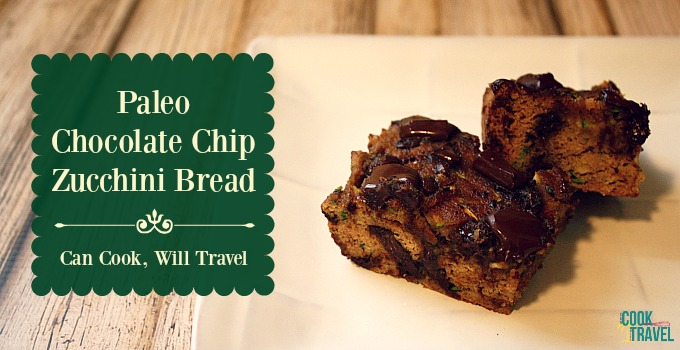 Paleo Chocolate Chip Zucchini Bread