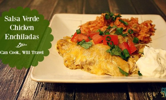 Tomatillo Salsa Verde Chicken Enchiladas