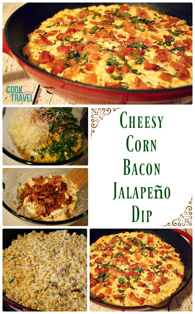 Cheesy Corn Bacon Jalapeño Dip