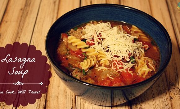 Lasagna Style Soup with Cheese Yum