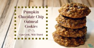 Autumn Pumpkin Chocolate Chip Oatmeal Cookies