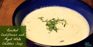 Seriously Winter?! Roasted Cauliflower Soup to the Rescue
