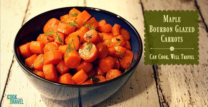 Maple Bourbon Glazed Carrots