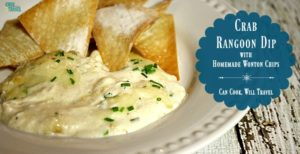 Hot Crab Dip with Wonton Chips