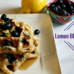 Lemon Blueberry Belgian Waffles