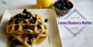 Lemon Blueberry Belgian Waffles Hit the Spot!