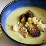Roasted Brussels Sprouts Cauliflower Soup