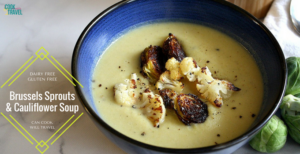 Roasted Brussels Sprouts Cauliflower Soup – Oh Yum!