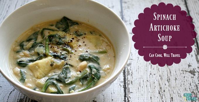 Spinach Artichoke Soup #SoupWeek