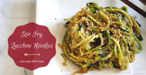 Stir Fry Zucchini Noodles = Fun & Delicious Cooking!