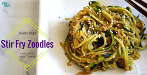Spicy Stir Fry Zoodles – Dairy Free