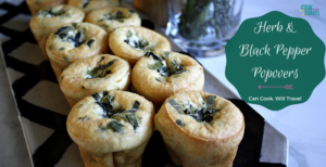 Dairy Free Herb and Black Pepper Popovers