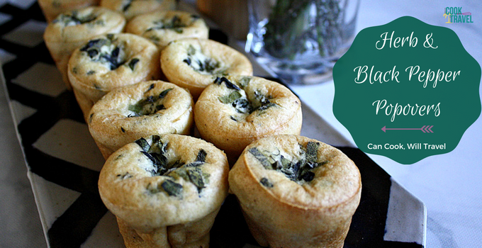 Herb and Black Pepper Popovers