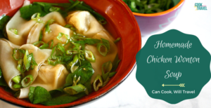 Homemade Chicken Wonton Soup